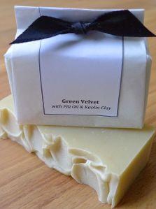 green velvet wrapped