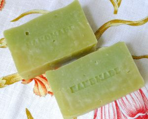 Holey cucumber soap.