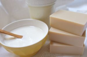 Homemade yogurt and yogurt soap