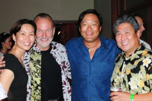 Star struck me with Hubert Keller, Ming Tsai and Allan Wong.