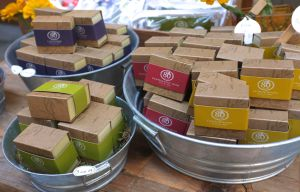 Soaps sold at the Ferry Building. I made sure to take photos of soap!