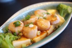 Du Hsiao Yueh's scallops with silken tofu