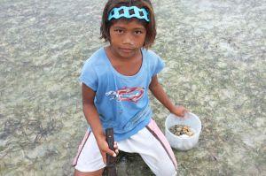Haiyan- Girl with clams