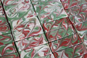 Christmas Soap - soap top