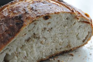 No-Knead Muesli Bread