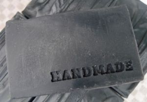 Stamped Charcoal Soap