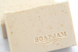 Stamped Oatmeal Soap