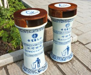 Ceramic trash bins (read the English text)