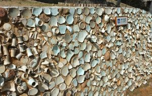 Great wall of ceramic