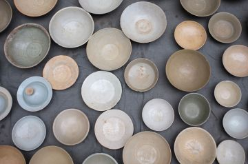 China - Market, bowls