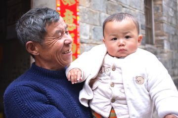 China - portrait young and old